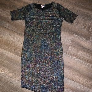 NWOT LulaRoe shimmer dress